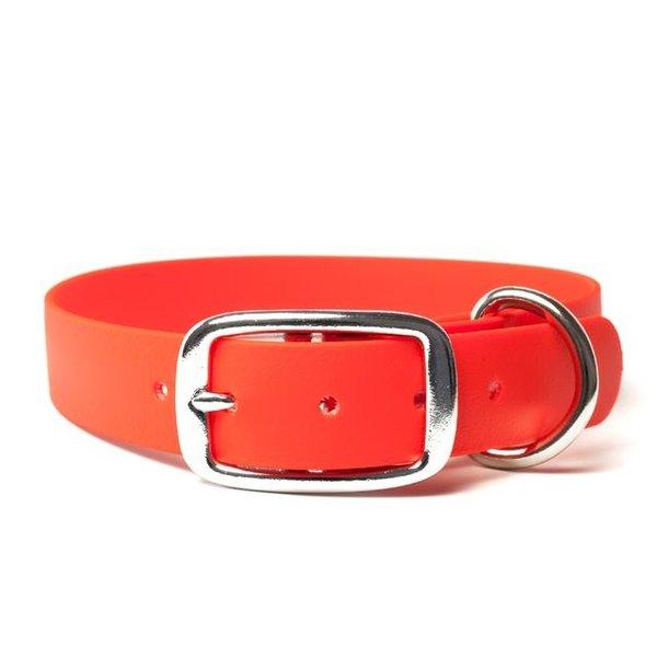 Biothane halsband deluxe 25mm Neon Oranje