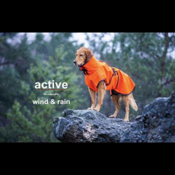 Active cape wind en regen