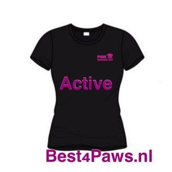 PWT dames Active shirt in Roze en Zwart verkrijgbaar