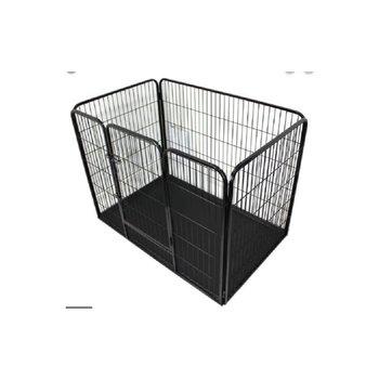 Topmast Puppyren Zwart Gecoat 125 x 80 x 90 cm. Enkel deur + Pvc Lade