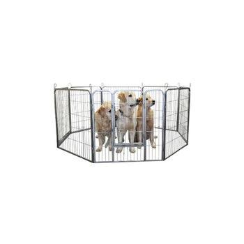 Topmast Puppyren 8 delig Grijs | 640 cm omtrek | 100 cm Hoog