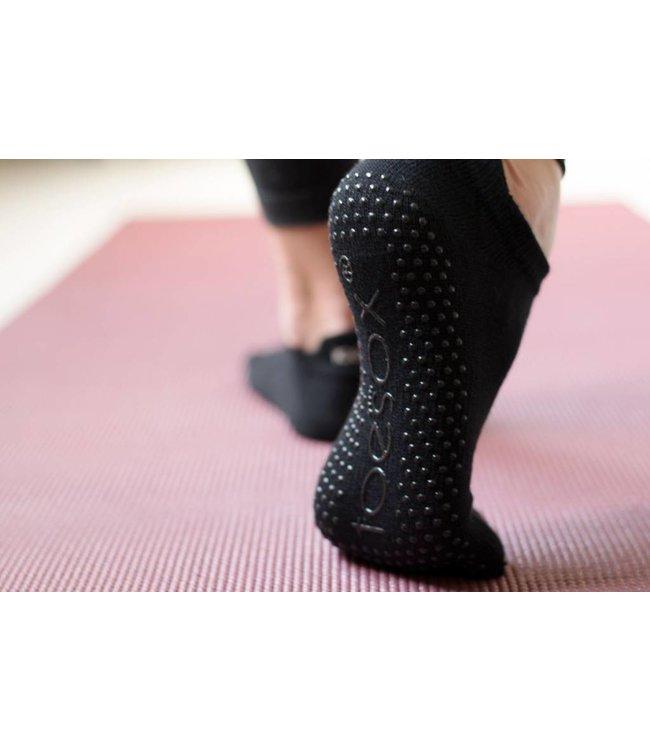 Toesox Yoga sokken extra grip zwart