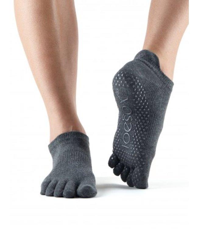 Toesox Yoga sokken extra grip charcoal
