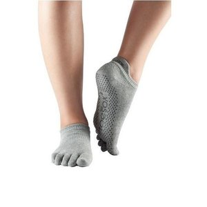 Toesox Yoga sokken extra grip grijs