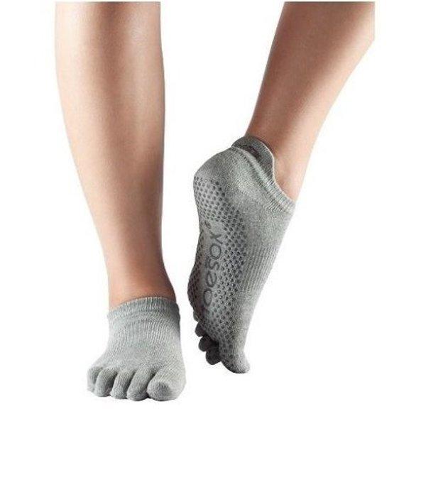 Yoga sokken extra grip grijs