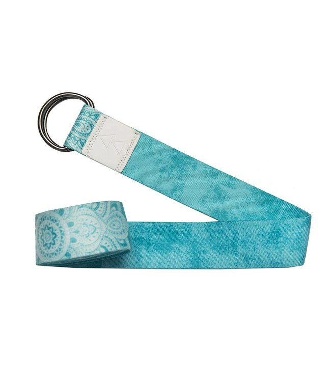 Yoga Design Lab Yoga riem mandala turquoise - Yoga Design Lab