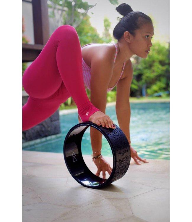 Yoga Design Lab Yoga wiel mandala zwart - Yoga Design Lab