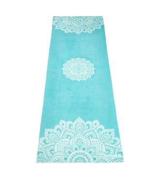 Yoga Design Lab Yoga handdoek mandala turquoise - Yoga Design Lab