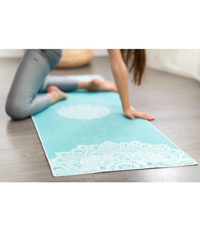 Yoga Design Lab Yoga handdoek mandala turquoise - Yoga Design Lab