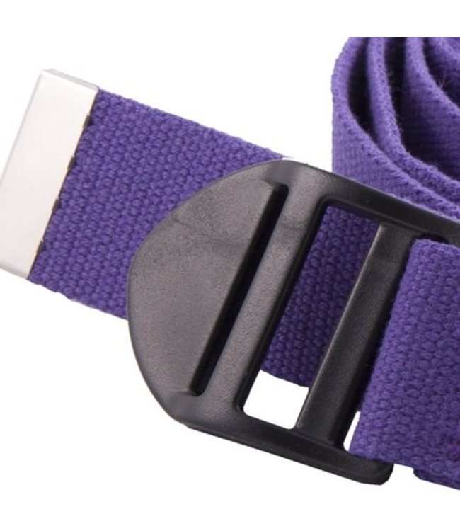 Yoga riem luxe paars