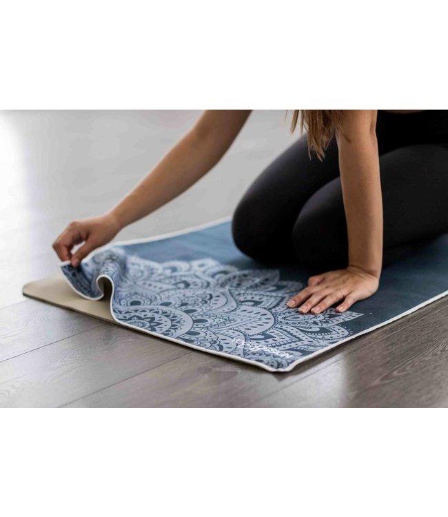 Yoga Design Lab Yoga handdoek mandala black - Yoga Design Lab