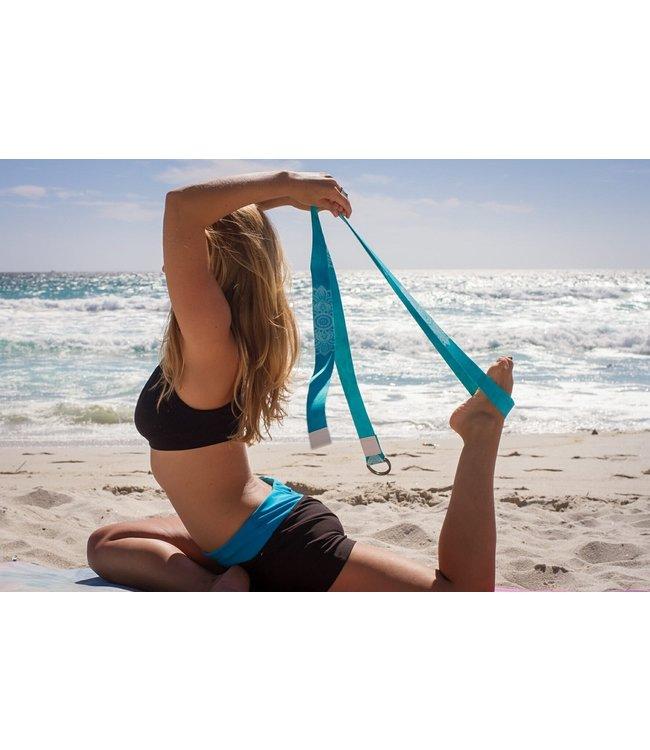 Yoga Design Lab Yoga riem mandala turquoise - Yoga Design Lab