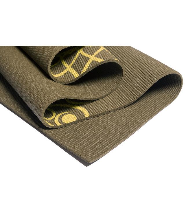 Lotus Yogamat sticky extra dik mandala donkergroen - Lotus