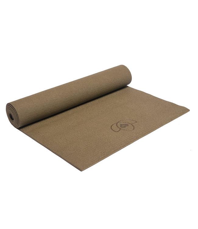 Lotus Luxe pakket yogamat, meditatiekussen, blok, oogkussen en tas - groen