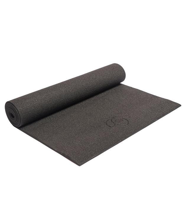 Luxe pakket yogamat, meditatiekussen, blok, oogkussen en tas - zwart
