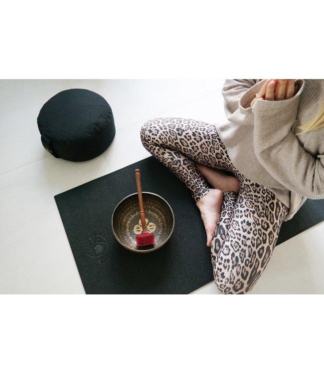 Lotus Meditatiekussen eco zwart rond - Lotus