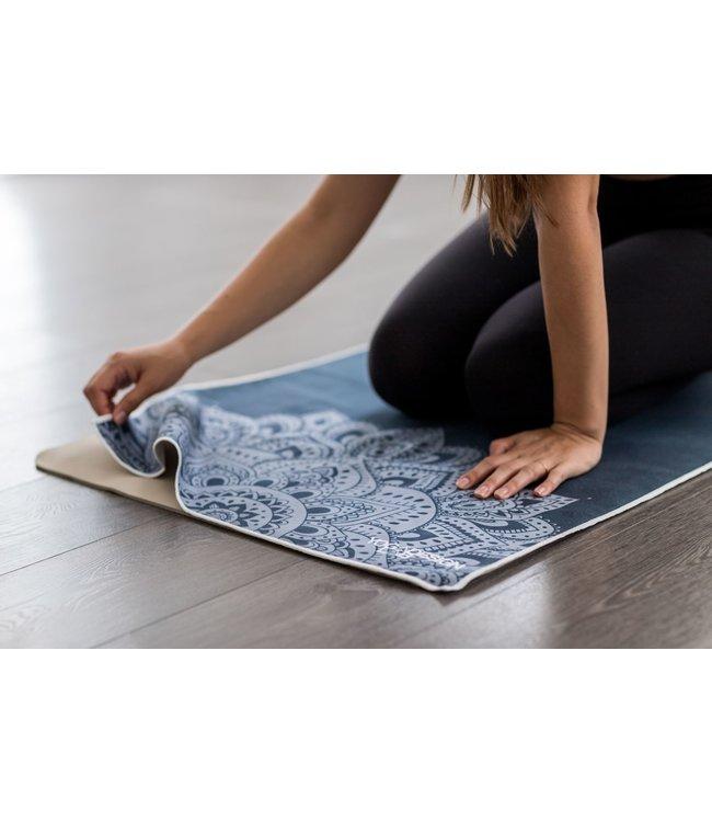 Yoga Design Lab Yoga handdoek mandala sapphire - Yoga Design Lab