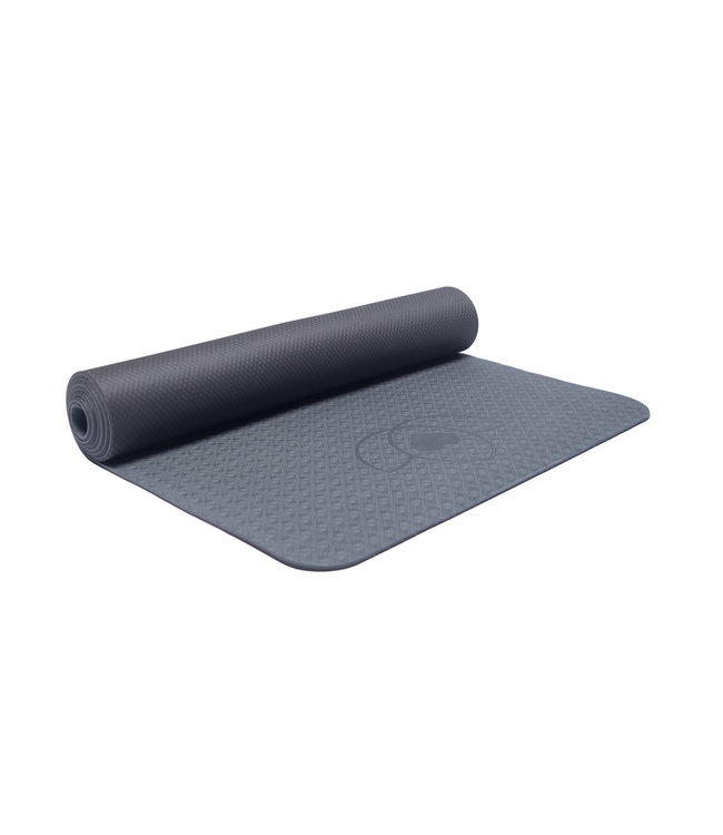 Lotus Yogamat eco grip TPE extra dik antraciet - Lotus