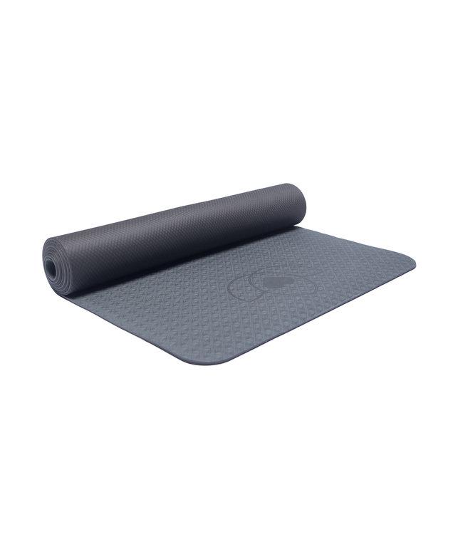 Lotus Yogamat grip TPE extra dik antraciet - Lotus