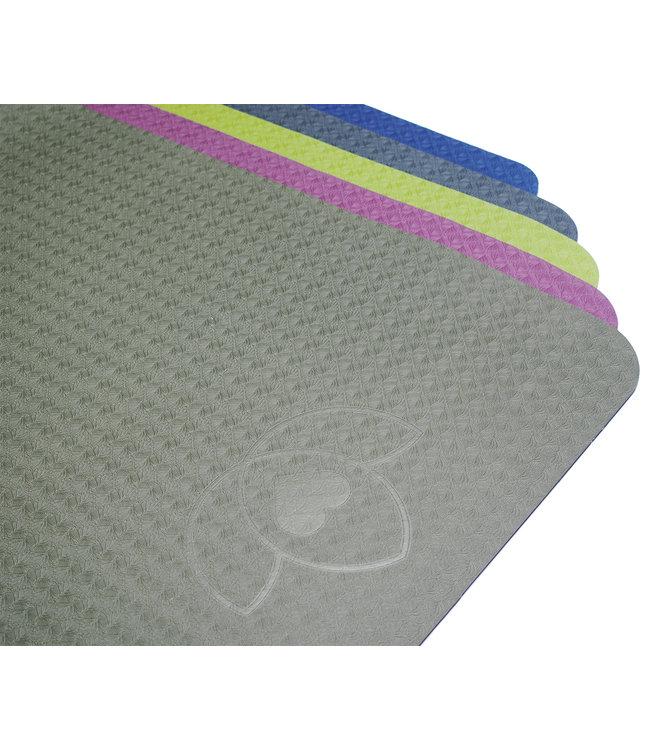 Lotus Yogamat eco grip TPE extra dik donkergroen - Lotus