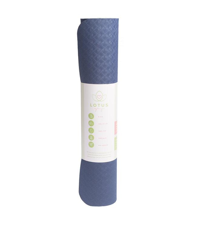 Lotus Yogamat grip TPE extra dik indigo - Lotus