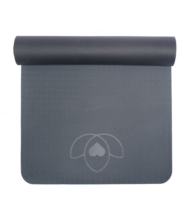 Lotus Yogamat eco grip TPE extra dik antraciet - Lotus