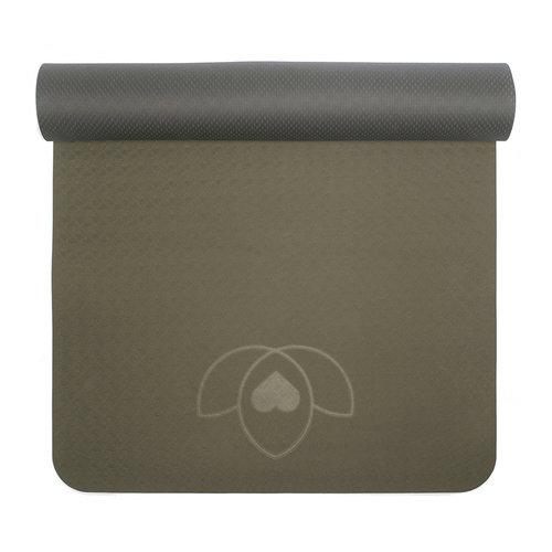 Yogamat eco grip TPE extra dik - Lotus