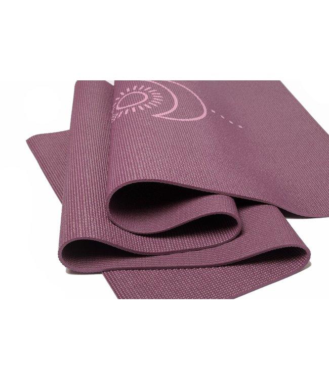 Lotus Eco yogamat sticky extra dik balance donkerpaars  - Lotus