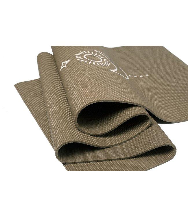 Lotus Eco yogamat sticky extra dik balance donkergroen  - Lotus