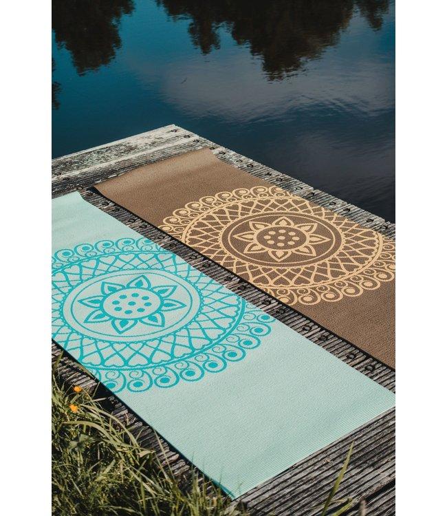 Lotus Eco yogamat sticky extra dik mandala donkergroen - Lotus