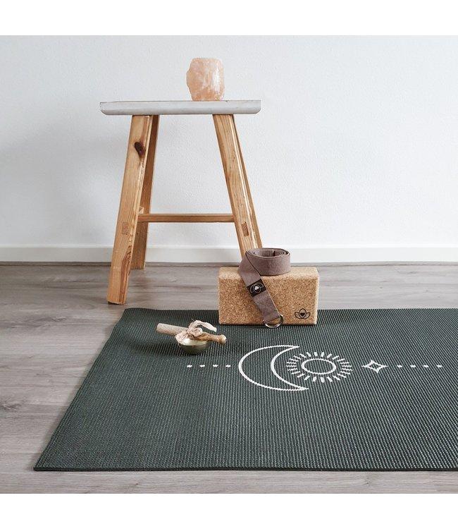 Lotus Eco yogamat sticky extra dik balance antraciet  - Lotus