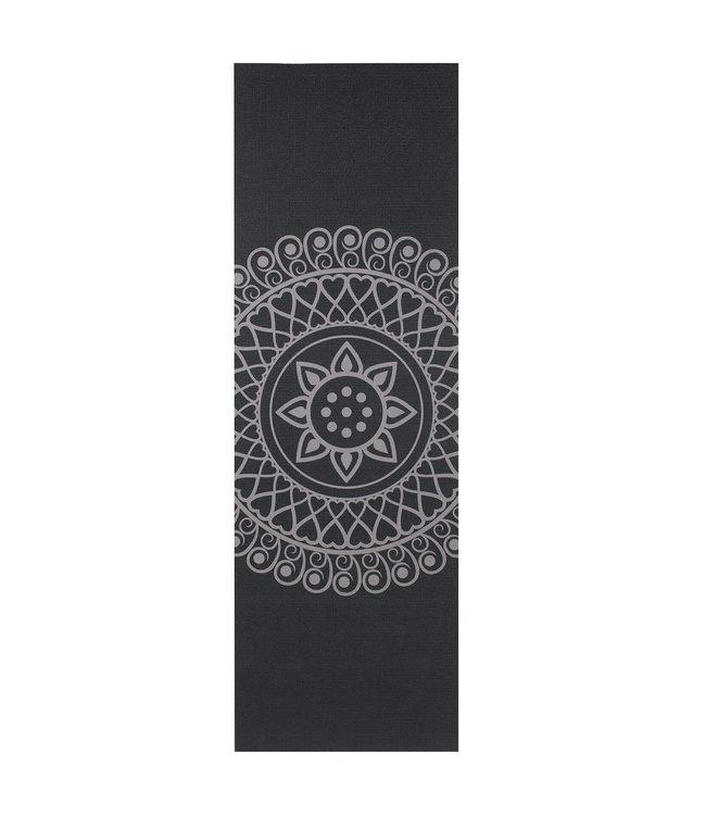 Lotus Yogamat sticky extra dik mandala zwart - Lotus