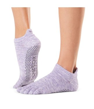 Toesox Yoga sokken extra grip heather purple