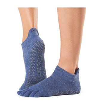 Toesox Yoga sokken extra grip navy