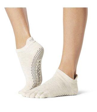 Toesox Yoga sokken extra grip oatmeal