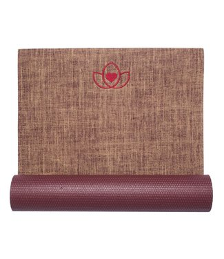 Lotus Yogamat jute burgundy – Lotus