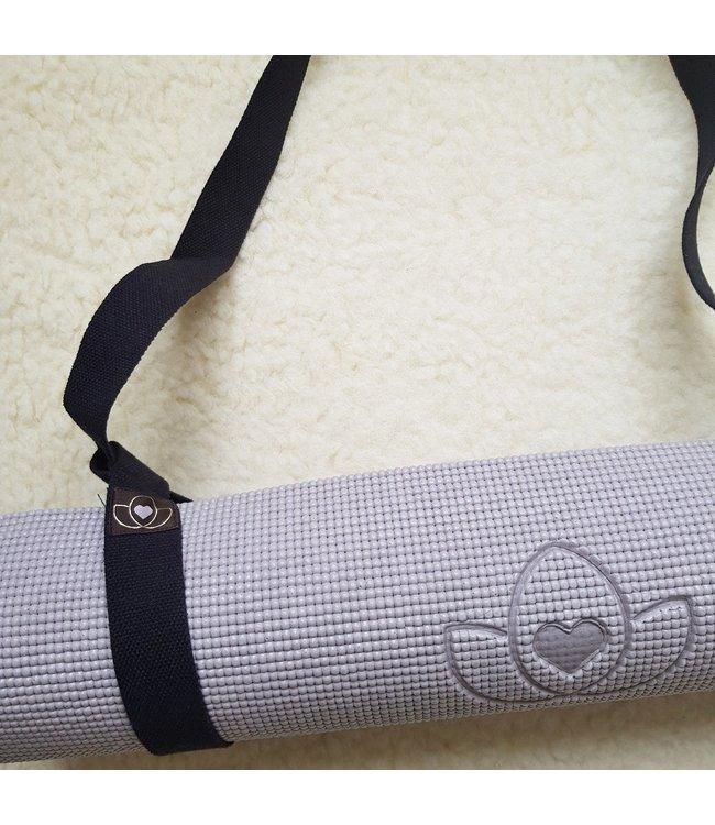 Lotus Yogamat draagband eco katoen - Lotus