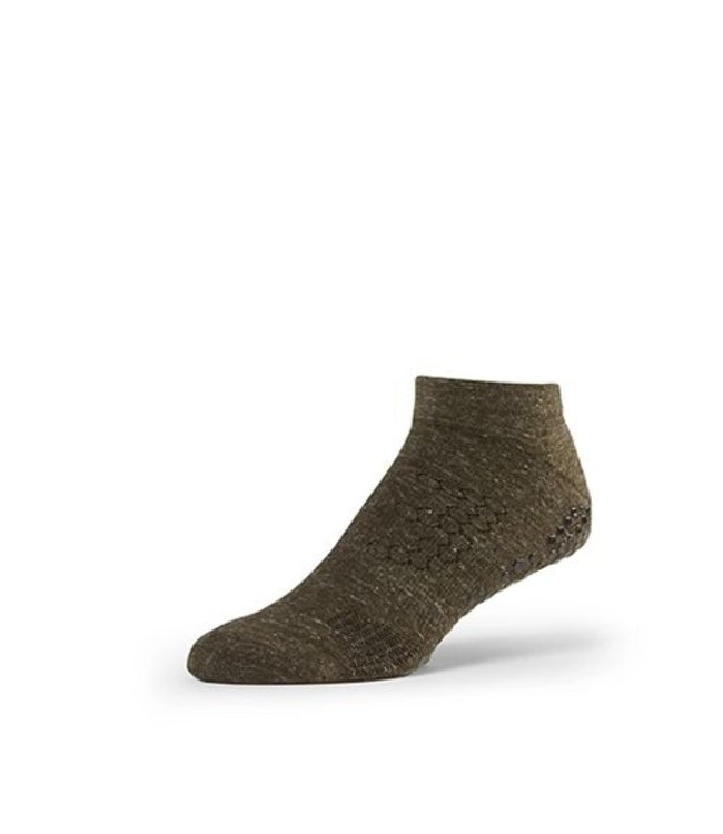 Toesox Yoga sokken mannen - olijfgroen