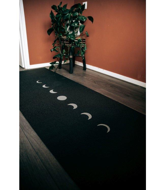 Lotus Yogamat sticky extra dik moon zwart - Lotus