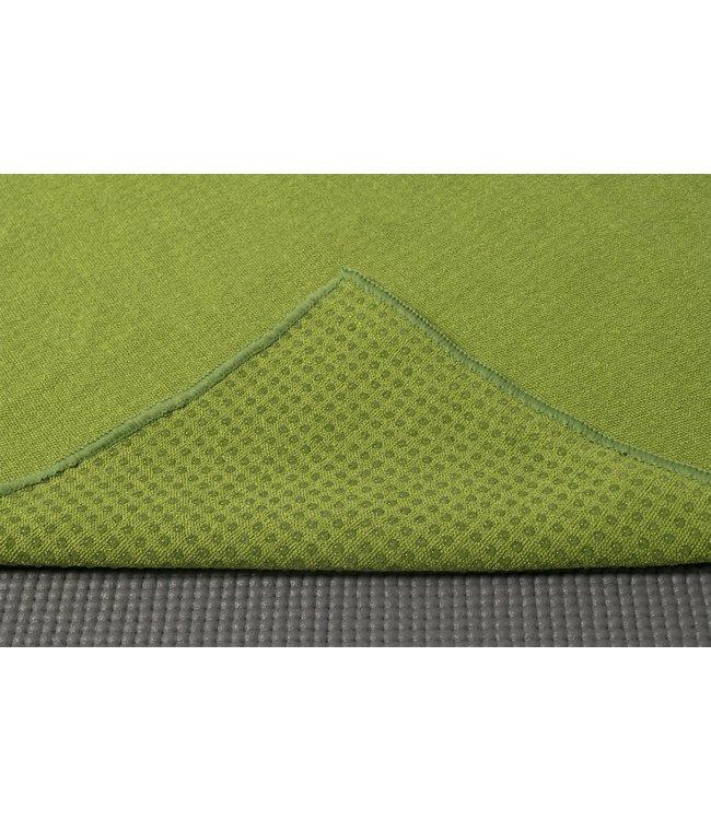 Lotus Yoga handdoek antislip olijfgroen - Lotus