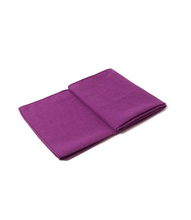 Lotus Yoga handdoek antislip paars - Lotus
