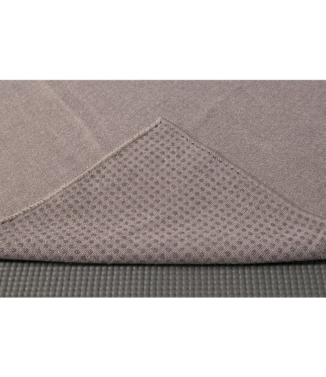 Lotus Yoga handdoek antislip grijs - Lotus