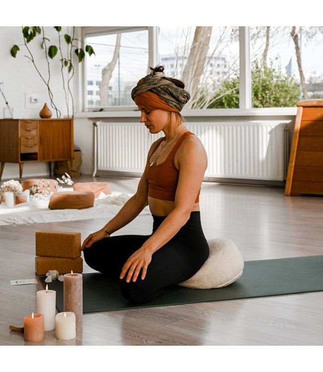 Lotus Meditatiekussen merino wol - Lotus
