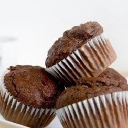 Chocolade muffins van kokosmeel