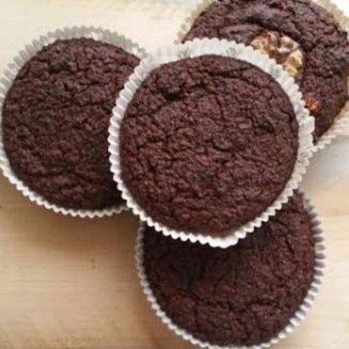 Chocolade muffins van amandelmeel