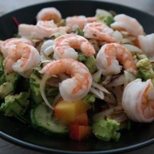 Zomerse garnalen salade