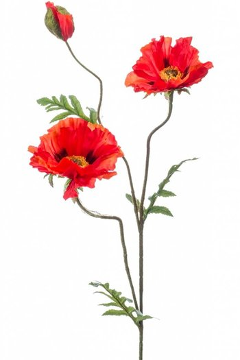 "Kunstblume ,,Mohn"" 90cm Orange"