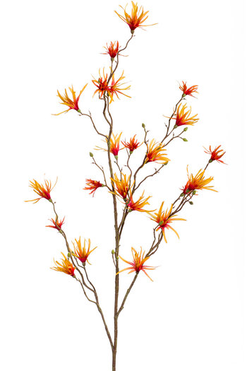 "Kunstblume ,,Hamamelis"" 120cm Orange/Gelb"