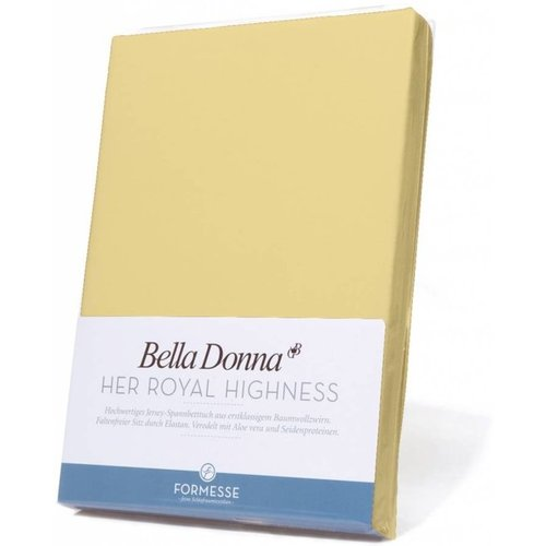 Formesse Bella Donna hoeslaken Jersey lichtgeel