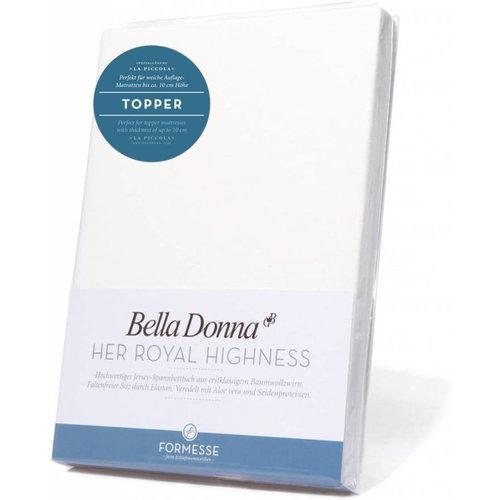 Formesse Bella Donna La Piccola topper hoeslaken Jersey wit
